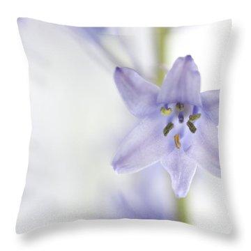 Spring Bluebells Throw Pillow by Carol Leigh