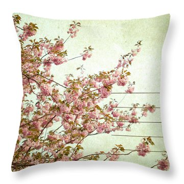 Spring Floral Throw Pillow by June Marie Sobrito