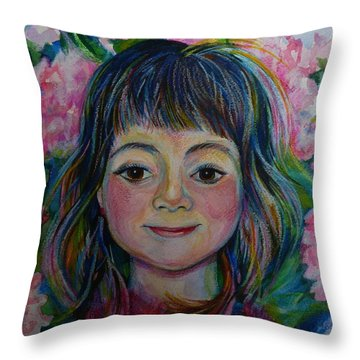 Spring Girls. Part One Throw Pillow by Anna  Duyunova