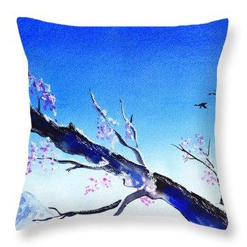 Spring In The Mountains Throw Pillow by Irina Sztukowski