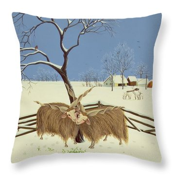 Spring In Winter Throw Pillow by Magdolna Ban