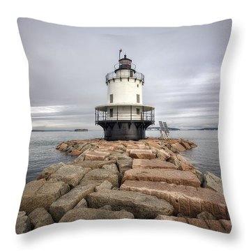 Spring Point Ledge Throw Pillow by Eric Gendron