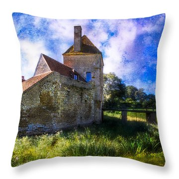 Spring Romance In The French Countryside Throw Pillow by Debra and Dave Vanderlaan