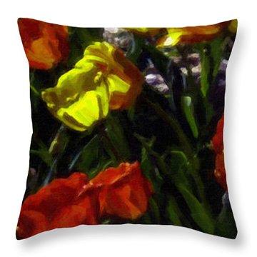 Spring Sunshine Throw Pillow by F Leblanc