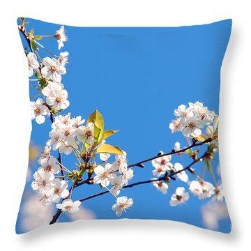 Spring Tree Throw Pillow by Michal Bednarek