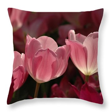 Spring Tulips Throw Pillow by Kathleen Struckle