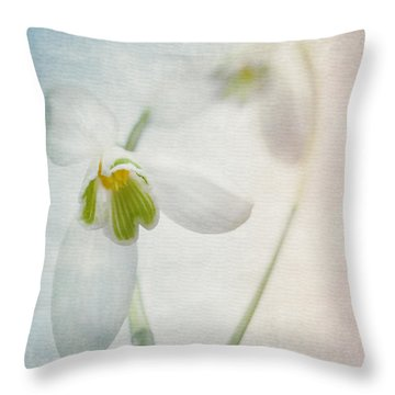 Springflower Throw Pillow by Annie Snel