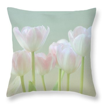 Spring's Pastels Throw Pillow by Kim Hojnacki