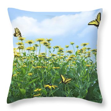 Springtime Throw Pillow by Diane Diederich