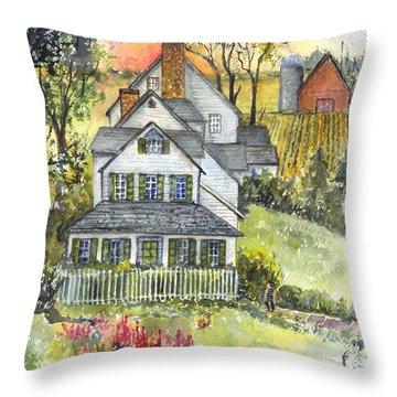 Springtime Down On The Farm Throw Pillow by Carol Wisniewski
