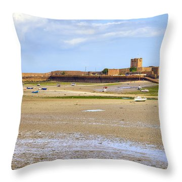 St Aubin's Fort - Jersey Throw Pillow by Joana Kruse