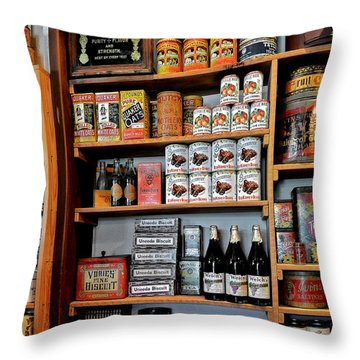 St Augustine's Oldest Store Throw Pillow by Christine Till