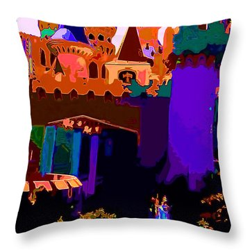 St George And The Dragon Throw Pillow by CHAZ Daugherty