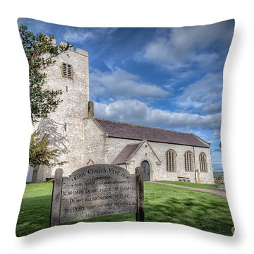 St Marcella's Church Throw Pillow by Adrian Evans