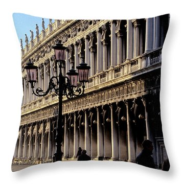 St. Mark's Square Venice Italy Throw Pillow by Ryan Fox