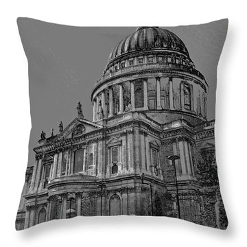St Paul's Cathedral London Art Throw Pillow by David Pyatt