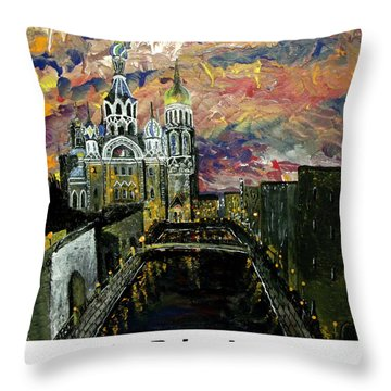 St  Petersburg Throw Pillow by Mark Moore