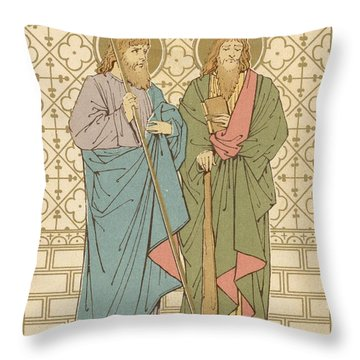 St Philip And St James Throw Pillow by English School