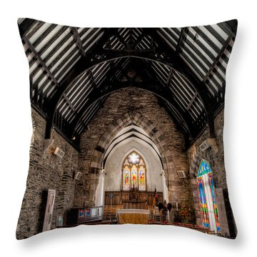 St Tudcluds Church Throw Pillow by Adrian Evans