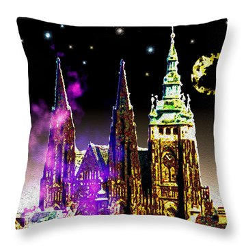 St. Vitus Cathedral Prague Throw Pillow by Daniel Janda