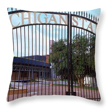 Stadium Of A University, Michigan Throw Pillow by Panoramic Images