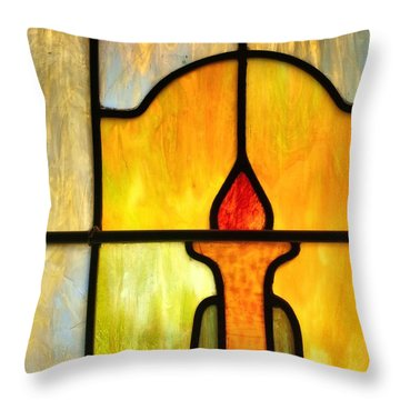Stained Glass 7 Throw Pillow by Tom Druin