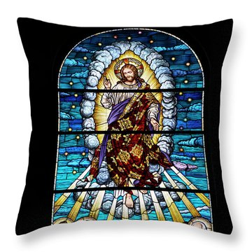 Stained Glass Pc 02 Throw Pillow by Thomas Woolworth