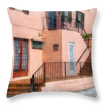 Staircase In Bermuda Throw Pillow by Susan Savad