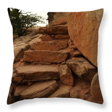 Stairs In The Desert Throw Pillow by Jeff Swan