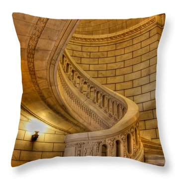 Stairs Of Mythical Proportion Throw Pillow by David Bearden
