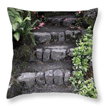 Stairway Path To Gardens Throw Pillow by Athena Mckinzie