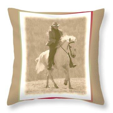 Stallion Strides Throw Pillow by Patricia Keller