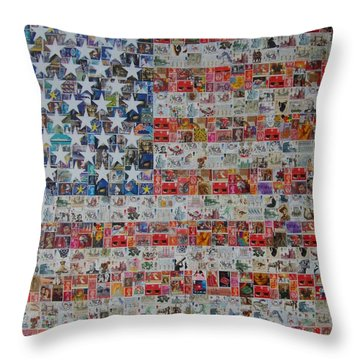 Stamps And Stripes Renegade Colony Throw Pillow by Gary Hogben