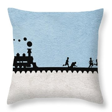 Stand By Me Throw Pillow by Ayse Deniz