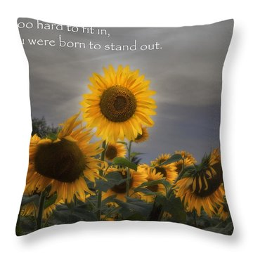 Stand Out Throw Pillow by Bill Wakeley