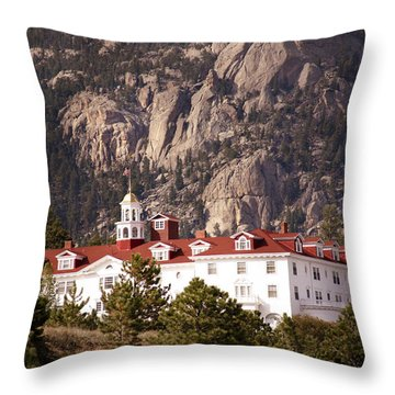 Stanley Hotel Estes Park Throw Pillow by Marilyn Hunt