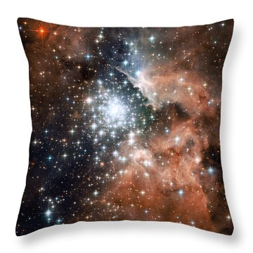 Star Cluster And Nebula Throw Pillow by Sebastian Musial