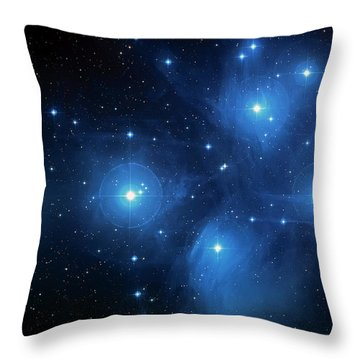 Star Cluster Pleiades Seven Sisters Throw Pillow by The  Vault - Jennifer Rondinelli Reilly