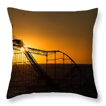 Star Jet Silhouette Throw Pillow by Michael Ver Sprill