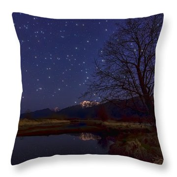 Star Light Star Bright Throw Pillow by James Wheeler