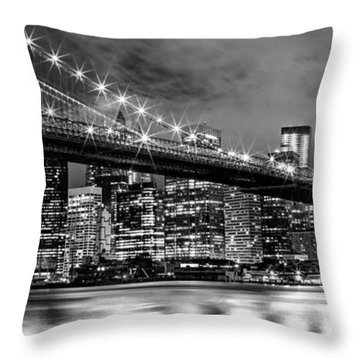 Star Spangled Skyline 2 Throw Pillow by Az Jackson