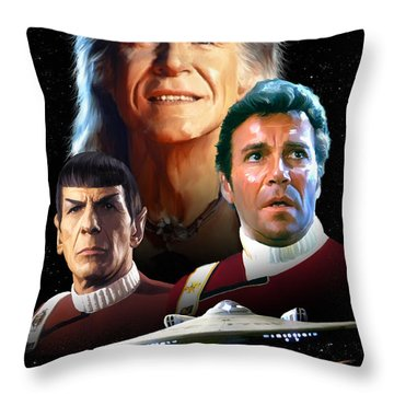 Star Trek II - The Wrath Of Khan Throw Pillow by Paul Tagliamonte