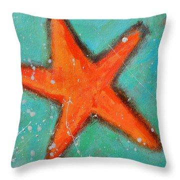 Starfish Throw Pillow by Patricia Awapara