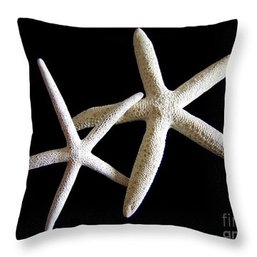 Starfish Tango Throw Pillow by Mary Deal