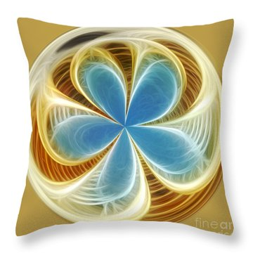 Starfish To Flower - Orb 2 Throw Pillow by Kaye Menner