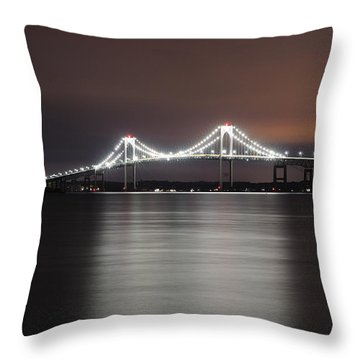 Stargazing In Newport Throw Pillow by Luke Moore