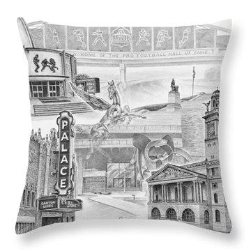 Stark County Ohio Print - Canton Lives Throw Pillow by Kelli Swan
