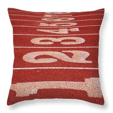 Starting Line Throw Pillow by Shoal Hollingsworth