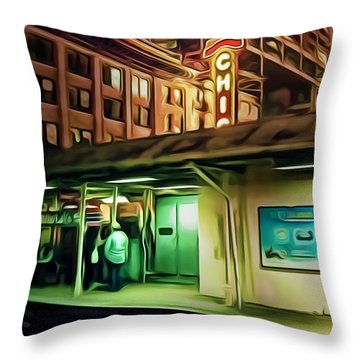 State And Lake Throw Pillow by Scott Norris