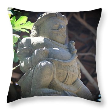 Statue In The Sun Throw Pillow by Jackie Mestrom